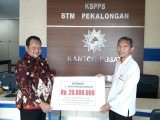 Support TPPC PDM Kabupaten Pekalongan, BTM Donasi 20 Juta melalui Lazismu